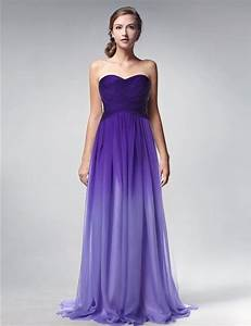 purple gradient chiffon long evening dress 2015 cheap With formal dresses for wedding guest