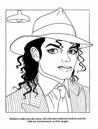 Coloring Pages Printable Adult Jackson Michael Sheets