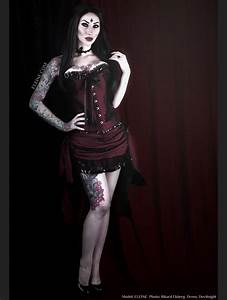 Wine Red Gothic Short Burlesque Corset Prom Party High