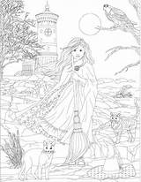 Coloring Pages Witch Adult Discover sketch template