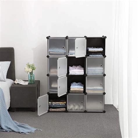 12 Cube Storage Shelves Diy Plastic Closet Cabinet