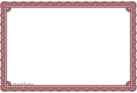certificate  appreciation border template update