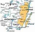 Map of Kalmar in Sweden