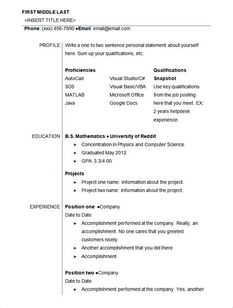 Exles Of Student Resume by Sle Student Resume Template