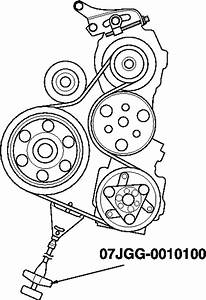 2007-2008 Honda Fit 1 5l Serpentine Belt Diagram