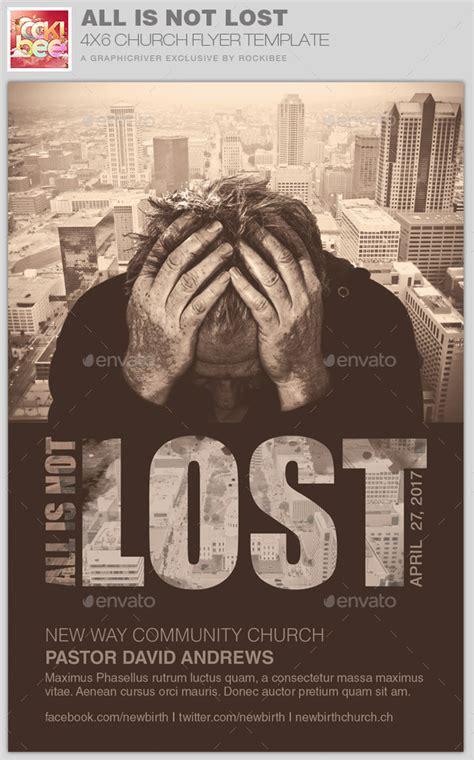 lost church flyer template  rockibee
