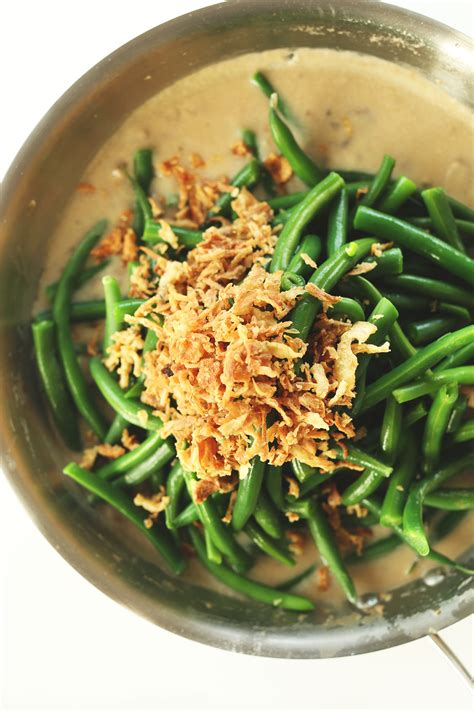 vegan green bean casserole minimalist baker recipes