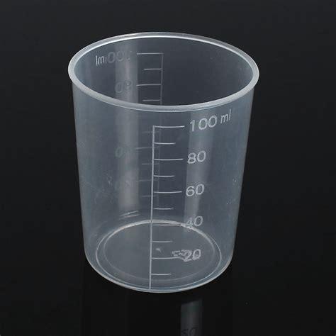 laboratorio test 100ml plastic graduated test measuring cylinder container