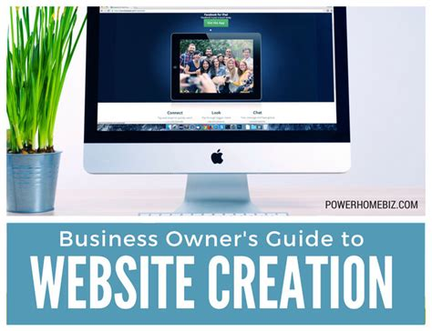 Creation Website by Small Business Owner S Guide To Website Creation
