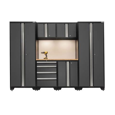 garage storage cabinets home depot newage products bold 3 series 77 in h x 108 in w x 18 in