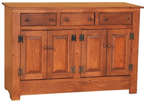 solid kitchen cabinets pine wood farmhouse buffet from dutchcrafters amish furniture 2402