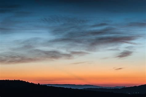 picture sky sunset nature silhouette mountain