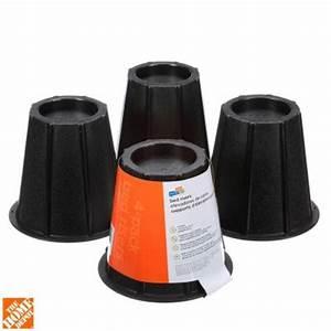 Honey can do 6 in h x 65 in l x 65 in w black round for Adjustable bed risers home depot