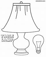 Pages Lightbulb Coloring Light Bulb Lamp Table Colorings sketch template