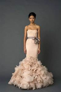 Wedding dress trends pink a boo pretty peacock paperie for Vera wang blush wedding dress