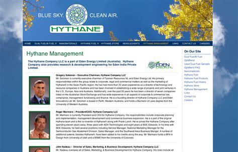 bellingham web design promoting clean energy hythane company gas