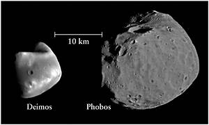 Mars Two Moons - Pics about space