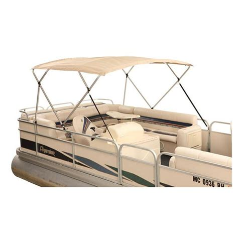 Pontoon Boat Bimini Top With Frame by Attwood 174 Pontoon Bimini Top 1 Quot Square Tubing 4 Bow Frame