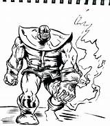 Infinity Coloring Pages Disney Avengers Gauntlet War Thanos Sketch Colouring Printable Template Getcolorings sketch template