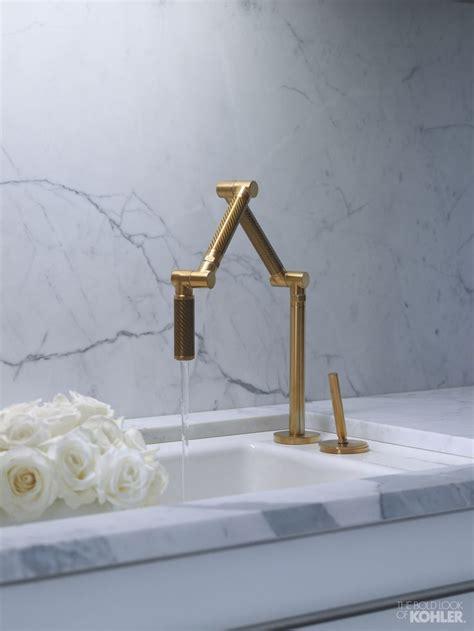kohler karbon faucet gold kohler karbon kitchen faucet sanctuary