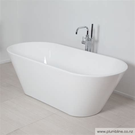 White Bath evo 1670 freestanding bath white baths bathroom