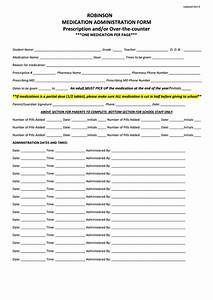 Release Of School Records Form Template Medication Administration Form Printable Pdf Download