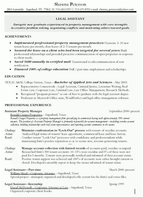 assistant property manager resume exles assistant