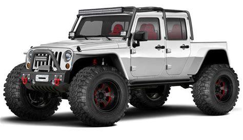 new 4 door jeep truck mbrp 12 valve diesel jeep build 4 door jk with pick up