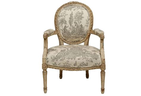 louis xvi style painted fauteuil chair omero home