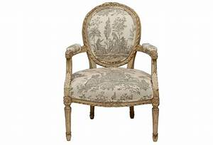Louis xvi style painted fauteuil chair omero home for Fauteuil