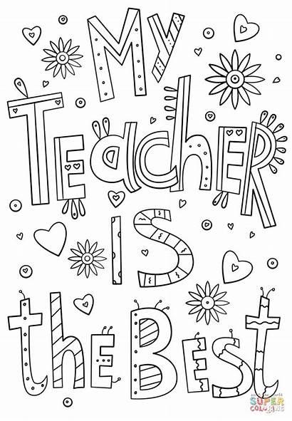Teacher Coloring Teachers Doodle Appreciation Week Thank