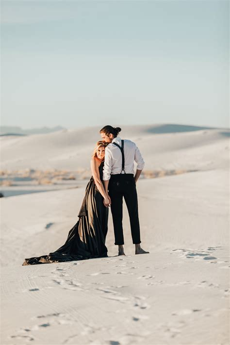 white sands national monument  mexico engagement shoot