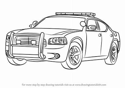 Police Draw Dodge Step Drawing Easy Challenger