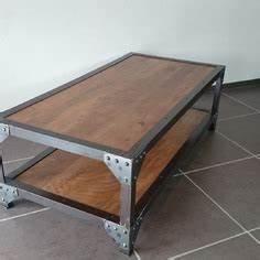 Table Salon Metal : table basse bois et fer table basse blanc bois maisonjoffrois ~ Teatrodelosmanantiales.com Idées de Décoration