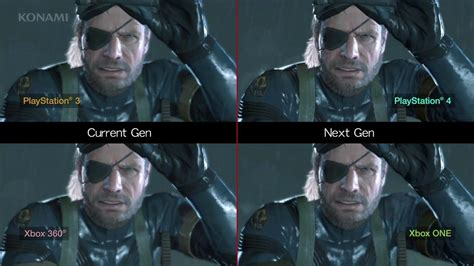 Kaos One Graphic 5 metal gear solid v ground zeroes current vs next
