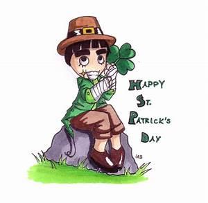 St. Patrick's Day Rock Lee by firnantowen on DeviantArt
