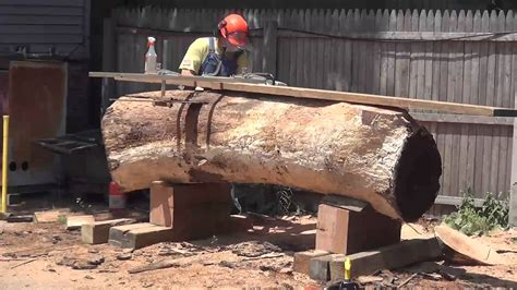 how to make a live edge table zci woodworks cutting logs for live edge furniture youtube