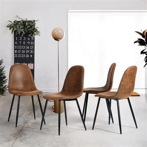 chaise salle a manger cuir lot de 4 chaises de salle à manger chaises de cuisine