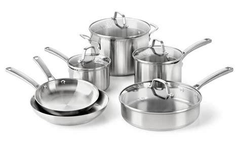 cookware stainless steel nonstick sets calphalon contemporary cuisinart classic ceramic piece