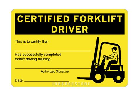 Links to lots of information and videos which apply to forklift trucks and operator training. 3 Pre-Printed Certified Forklift Driver ID Card | eBay