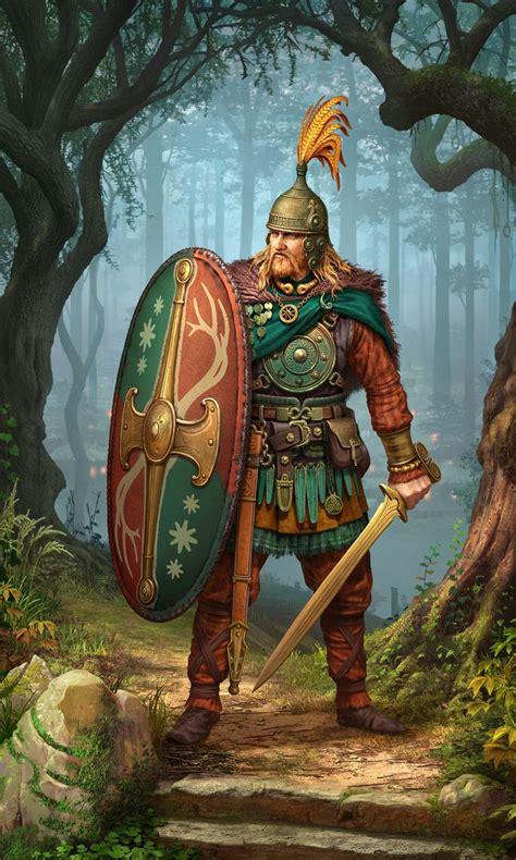 artstation celtic heavy infantry roman zawadzki