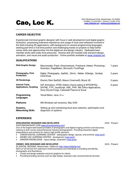personal resume exles sle resume for it