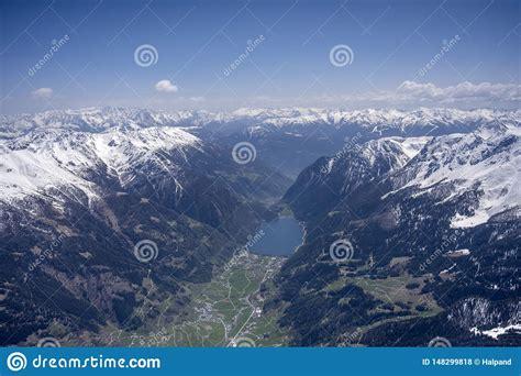 Poschiavo Lake And Valley Grisons Switzerland Stock