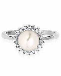 pretty pearl engagement rings martha stewart weddings With pearl engagement ring with wedding band