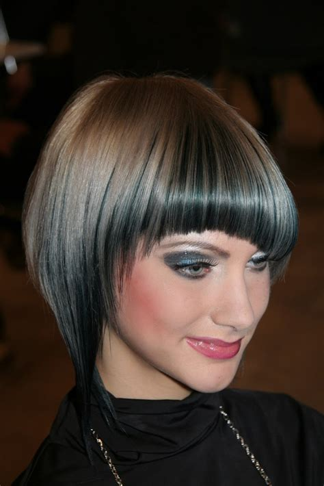 layered hairstyle inverted bob haircut