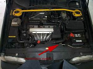 Transmission And Oil Dipstick Location  Volvo 5