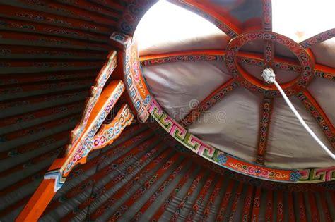 details  yurt interior stock photo image  details