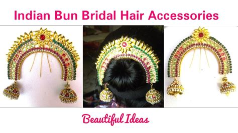 Wedding Accessories For Indian Groom : How To Make Indian Bun Bridal Hair
