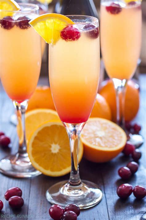 best mimosas cranberry orange mimosas recipe runner