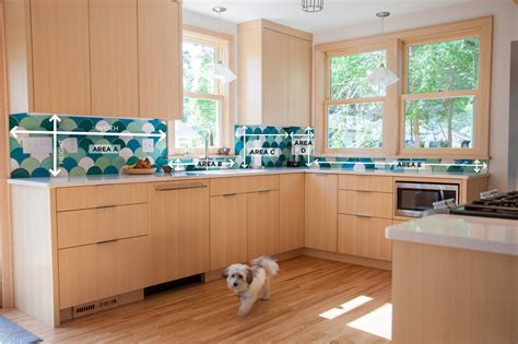 how to measure for kitchen backsplash how to measure your kitchen backsplash mercury mosaics 8754